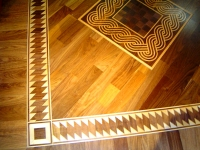 Borders, Medallions, Inlays, Mosaic wood floor