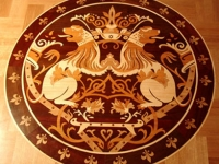 Mosaic wood floors / medallions / inlays